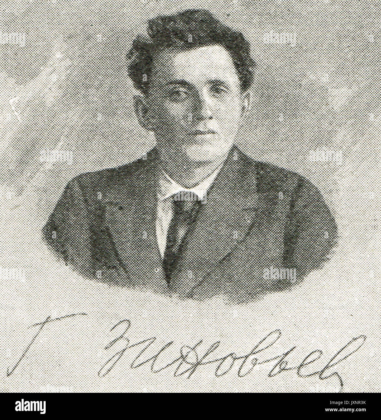 Grigory Zinoviev portrait & signature - Stock Image
