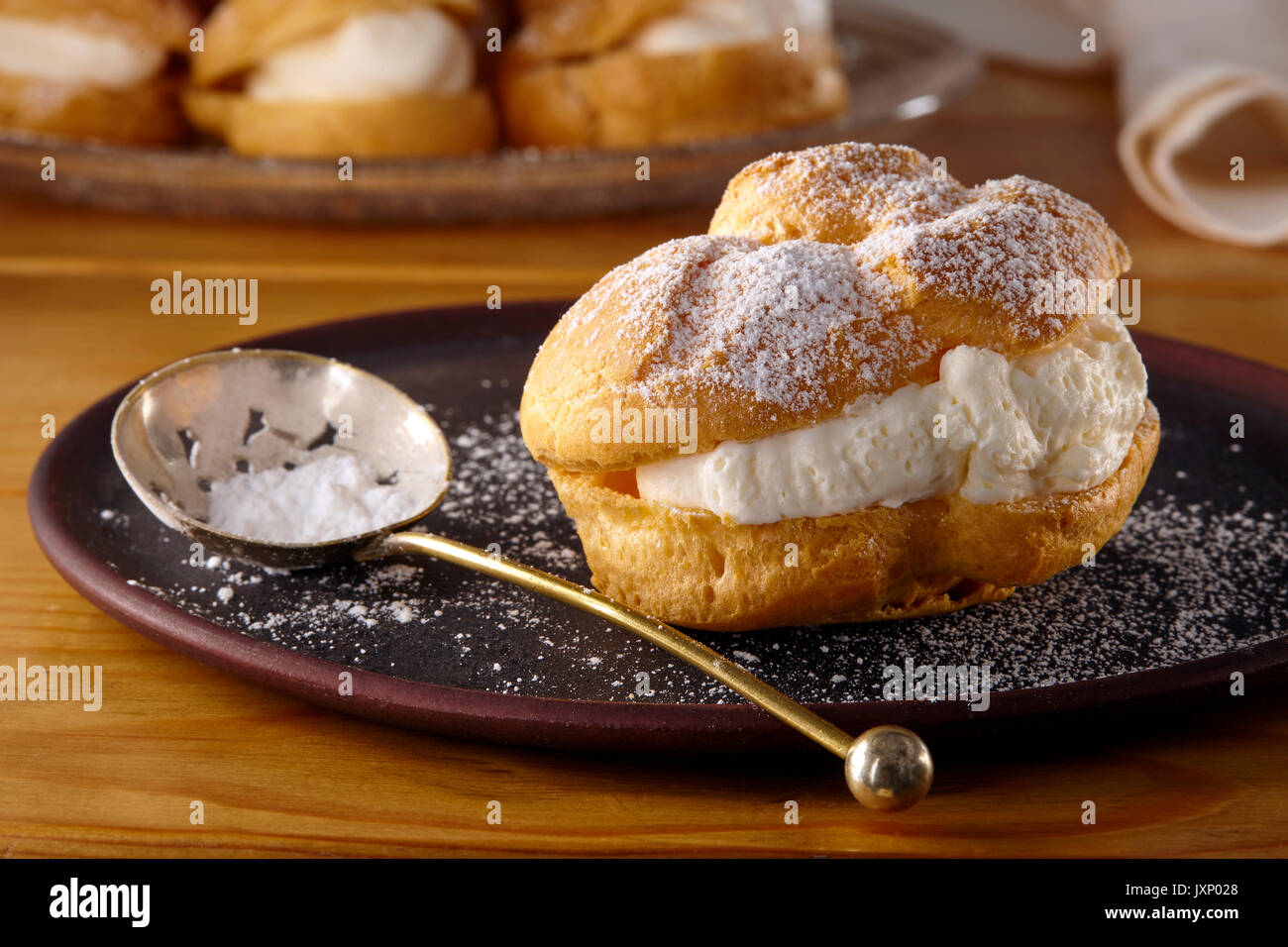 Dairy-free cream puffs - Stock Image