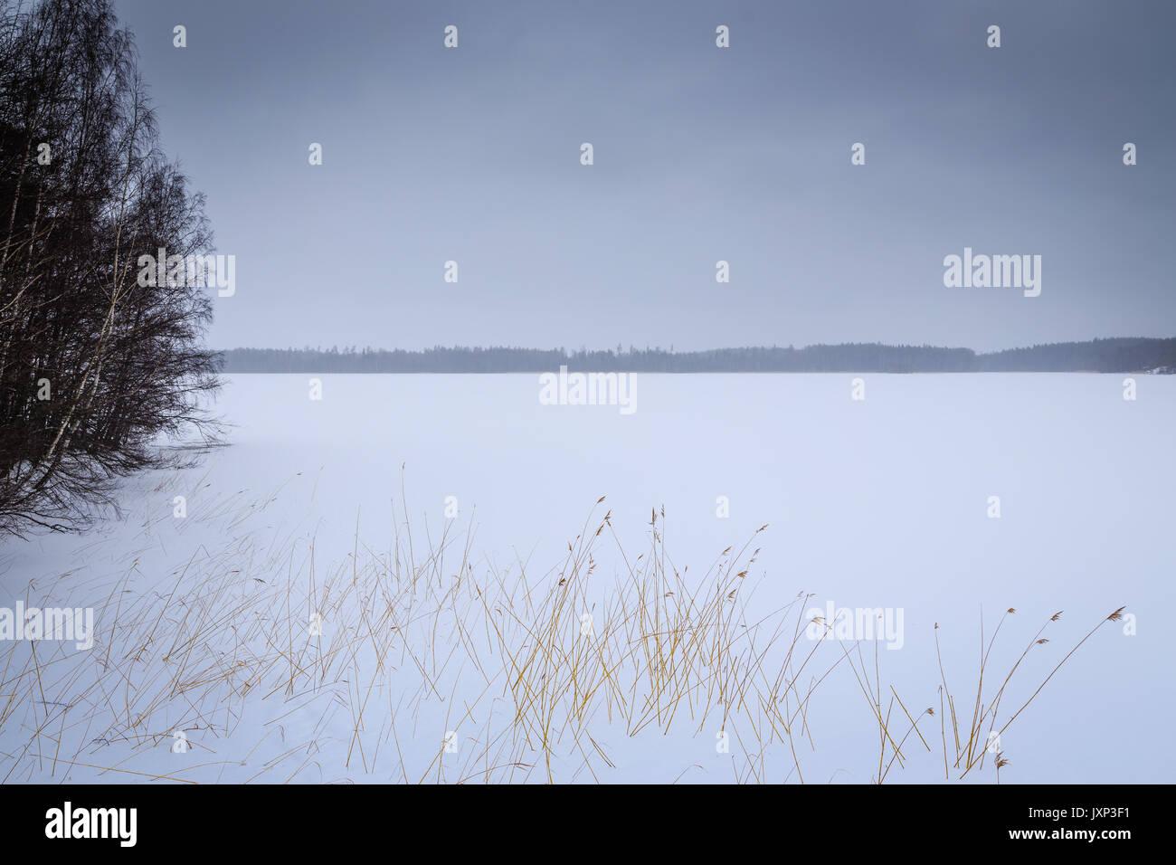 A frozen Lake near Rauma, Finland - Stock Image