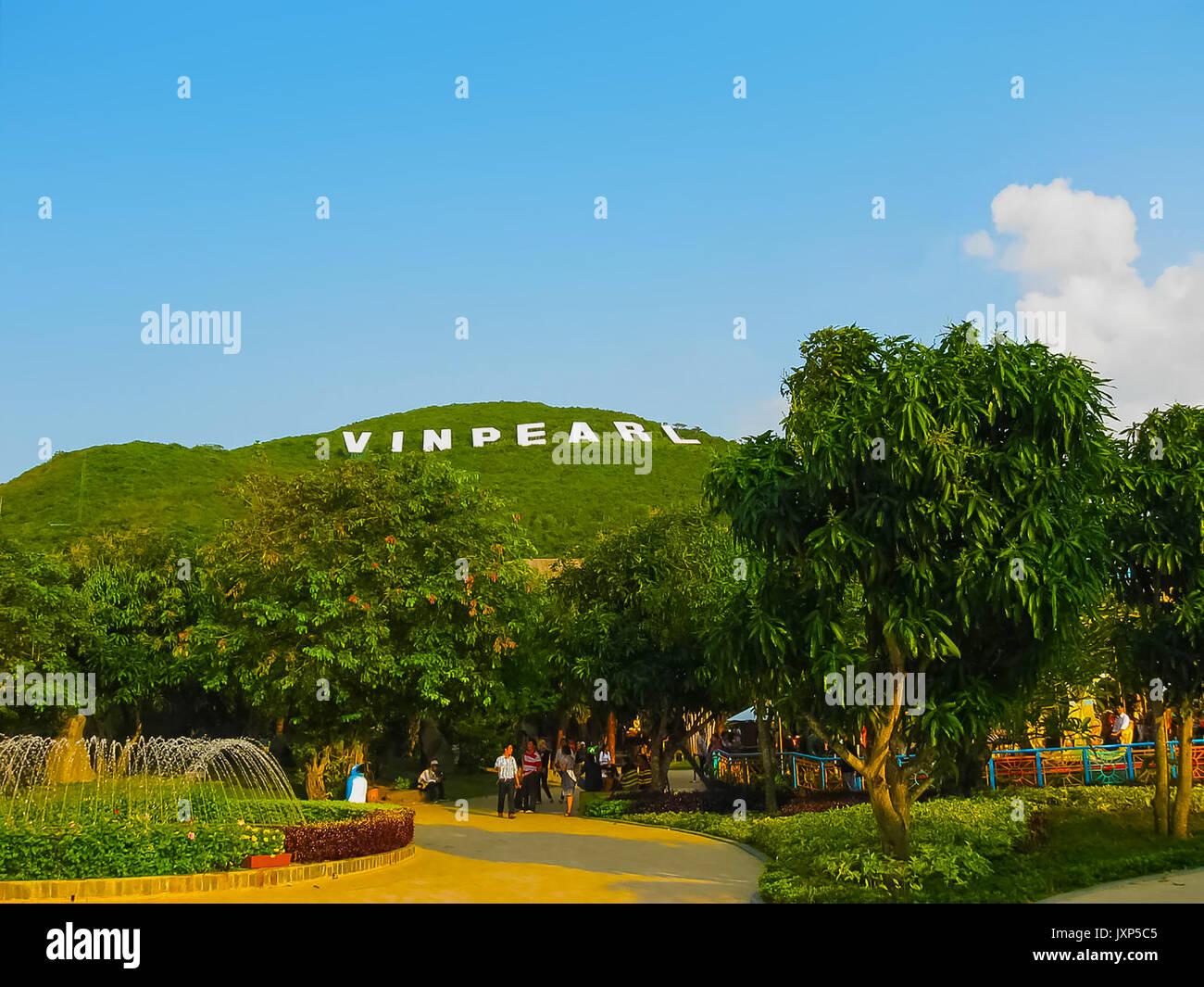 Nha Trang, Vietnam - February 12, 2011: The Hon Tre Island or Vinperl Amusement Park - Stock Image
