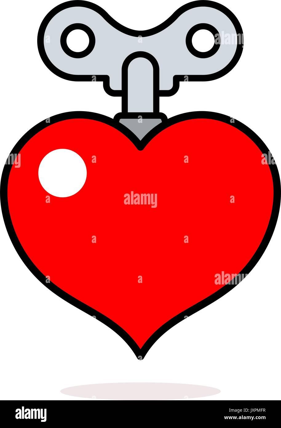 Cartoon Heart Key Stock Photos Cartoon Heart Key Stock Images Alamy