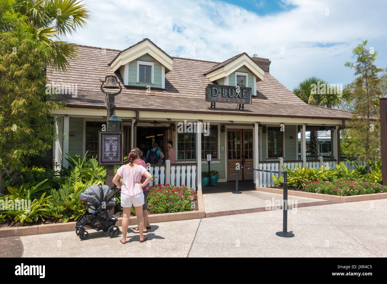 D-Luxe Burger at Disney Springs, Walt Disney World, Orlando, Florida. - Stock Image