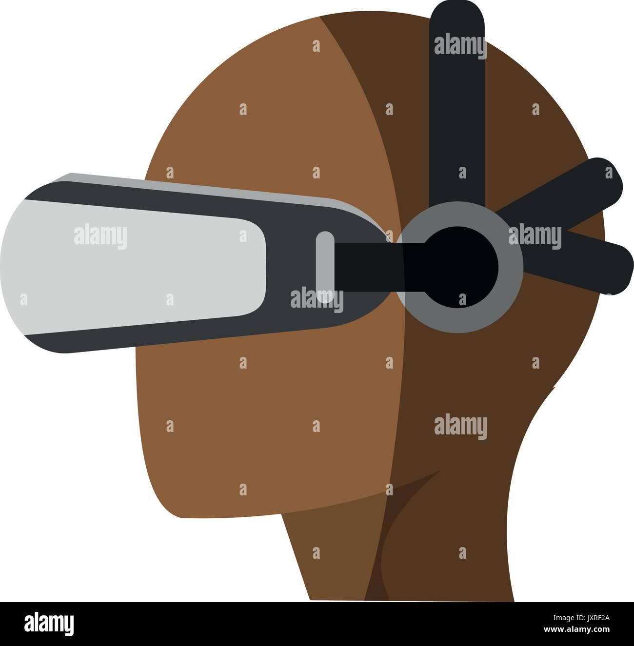 virtual reality gadget icon image - Stock Image