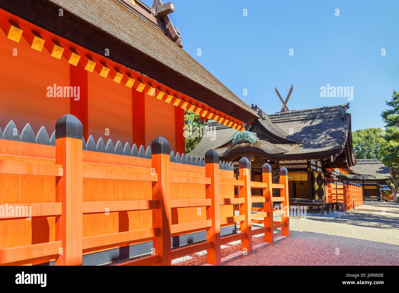 Sumiyoshi Grand Shrine (Sumiyoshi-taisha) in Osaka - Stock Image