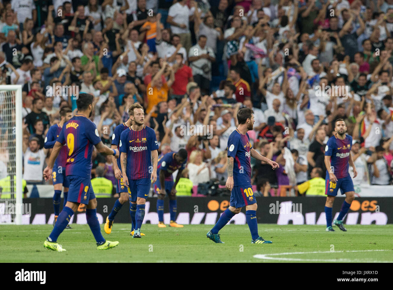 Madrid, Spain. 16th Aug, 2017. Second Leg of the Spanish Supercup played in Santiago Bernabeu Stadium between Real Madrid and FC Barcelona at Aug 16th 2017. Real Madrid won the game 2-0 and was the Spanish Supercup Champion 2017. Credit: AFP7/Alamy Live News - Stock Image