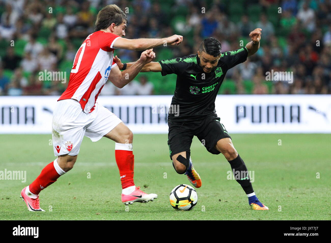 Krasnodar Russia 17th Aug 2017 Crvena Zvezda Belgrade S Filip Stock Photo Alamy