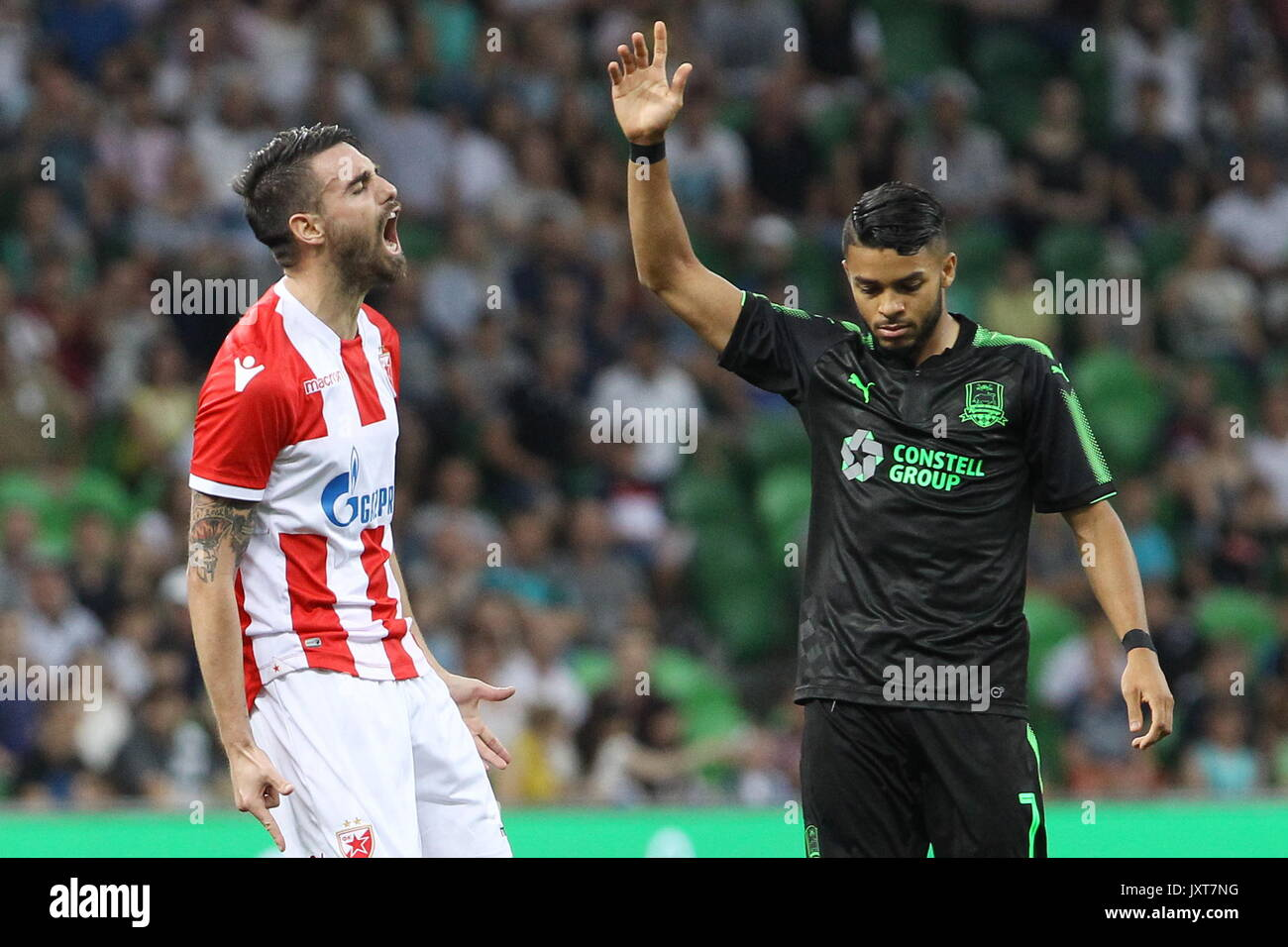 Krasnodar Russia 17th Aug 2017 Crvena Zvezda Belgrade S Damien Le Stock Photo Alamy