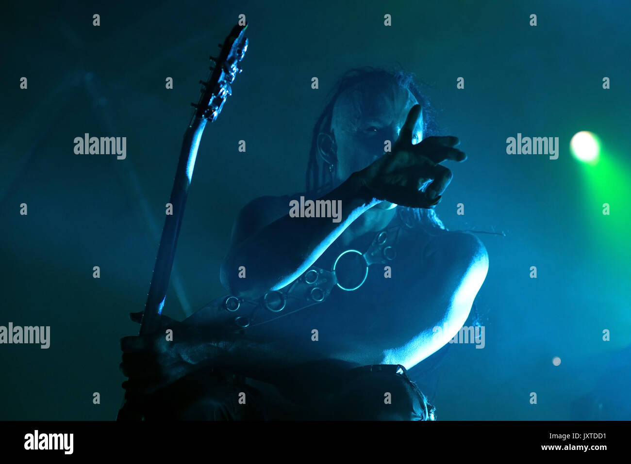 BARCELONA - JUN 1: Skinny Puppy (industrial music band) perform in concert at Primavera Sound 2017 Festival on June 1, 2017 in Barcelona, Spain. - Stock Image