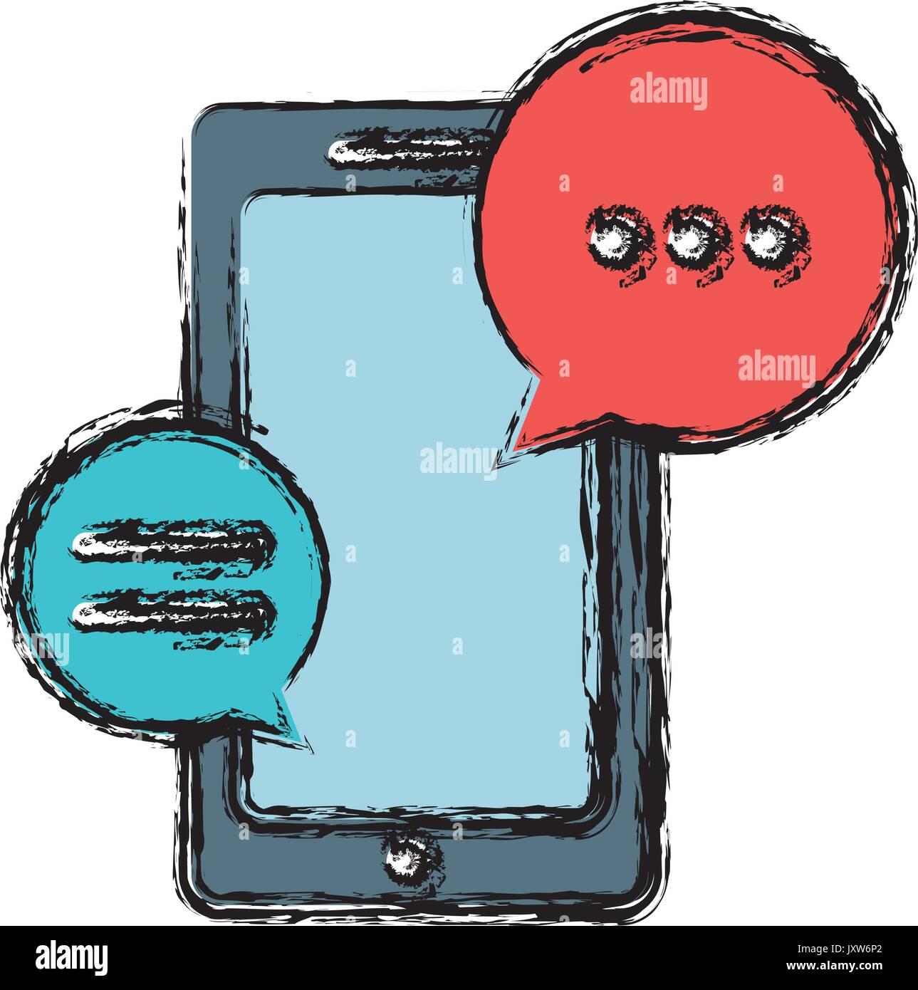 smartphone device icon - Stock Image