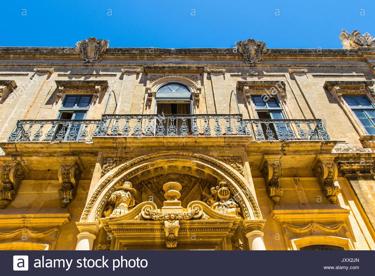 balcony in mdina, malta - Stock Image