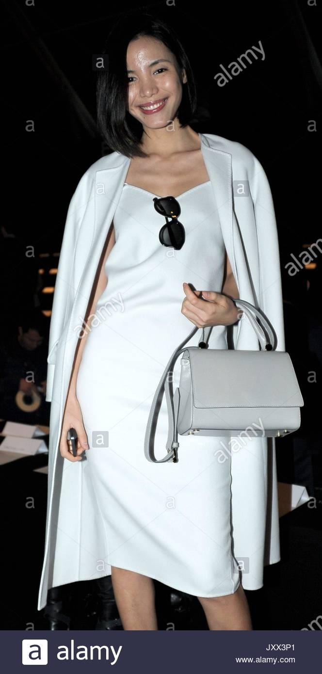220d1d6705 Jing Li in Max Mara. Milan Fashion Week Women s Fashion Fall   Winter  2014-2015 Max Mara show.