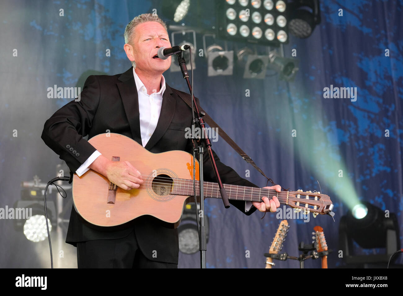 Gerry Colvin performing with The Gerry Colvin Band at Cropredy Festival, Banbury, Oxfordshire, England, August 11, 2017 - Stock Image
