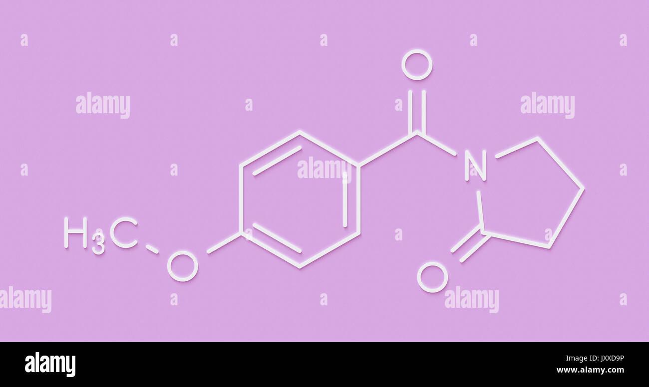 Aniracetam Nootropic Drug Molecule Skeletal Formula Stock Photo