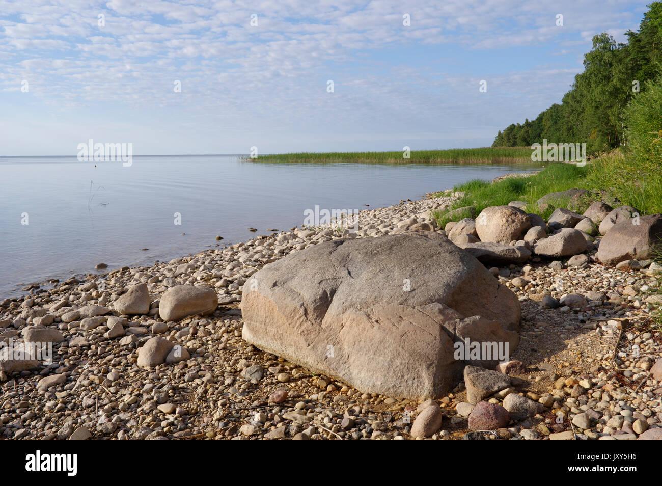 View to the Lake Võrtsjärv, Estonia 16.08.2017 - Stock Image