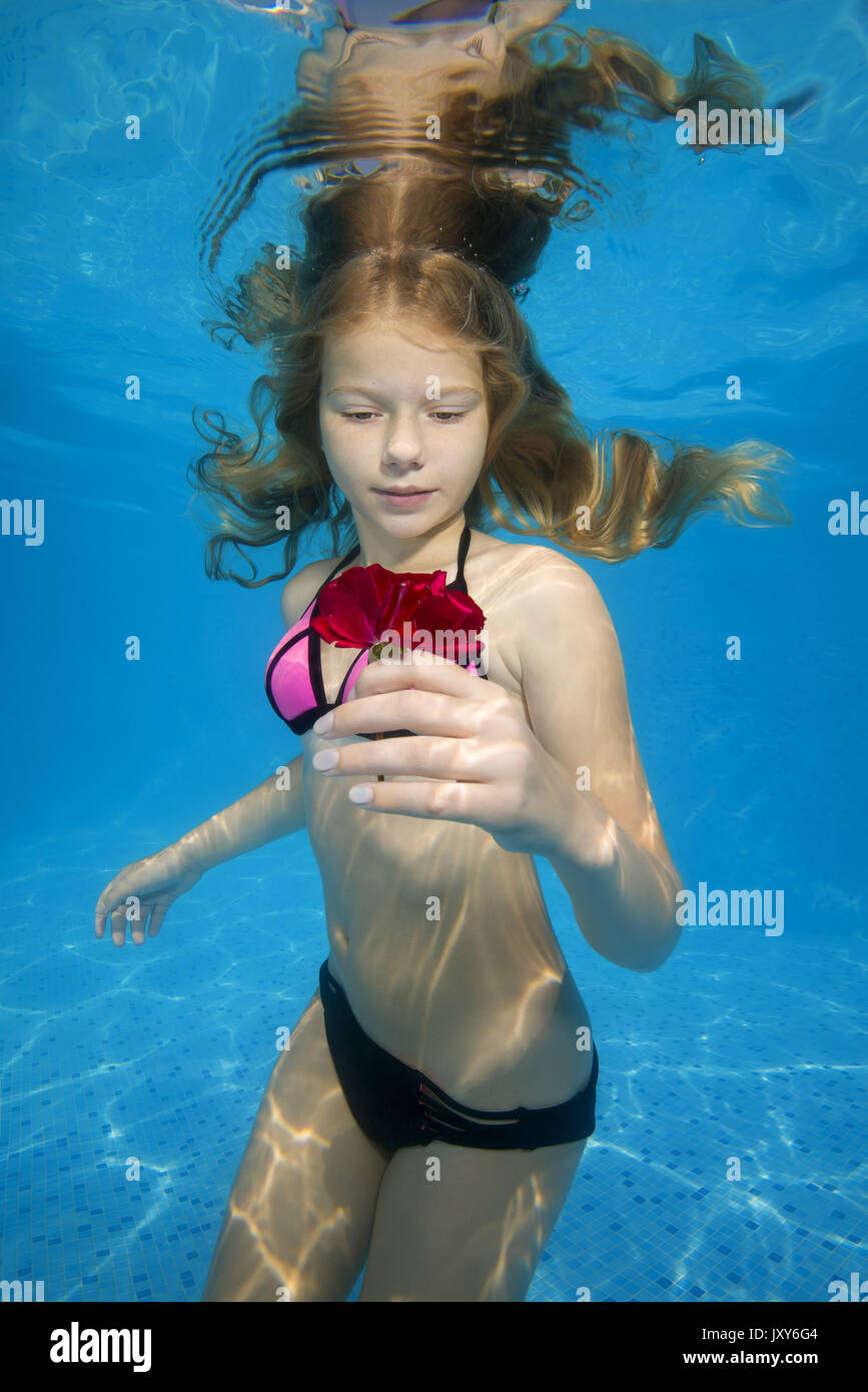And have teen girls underwater protest against