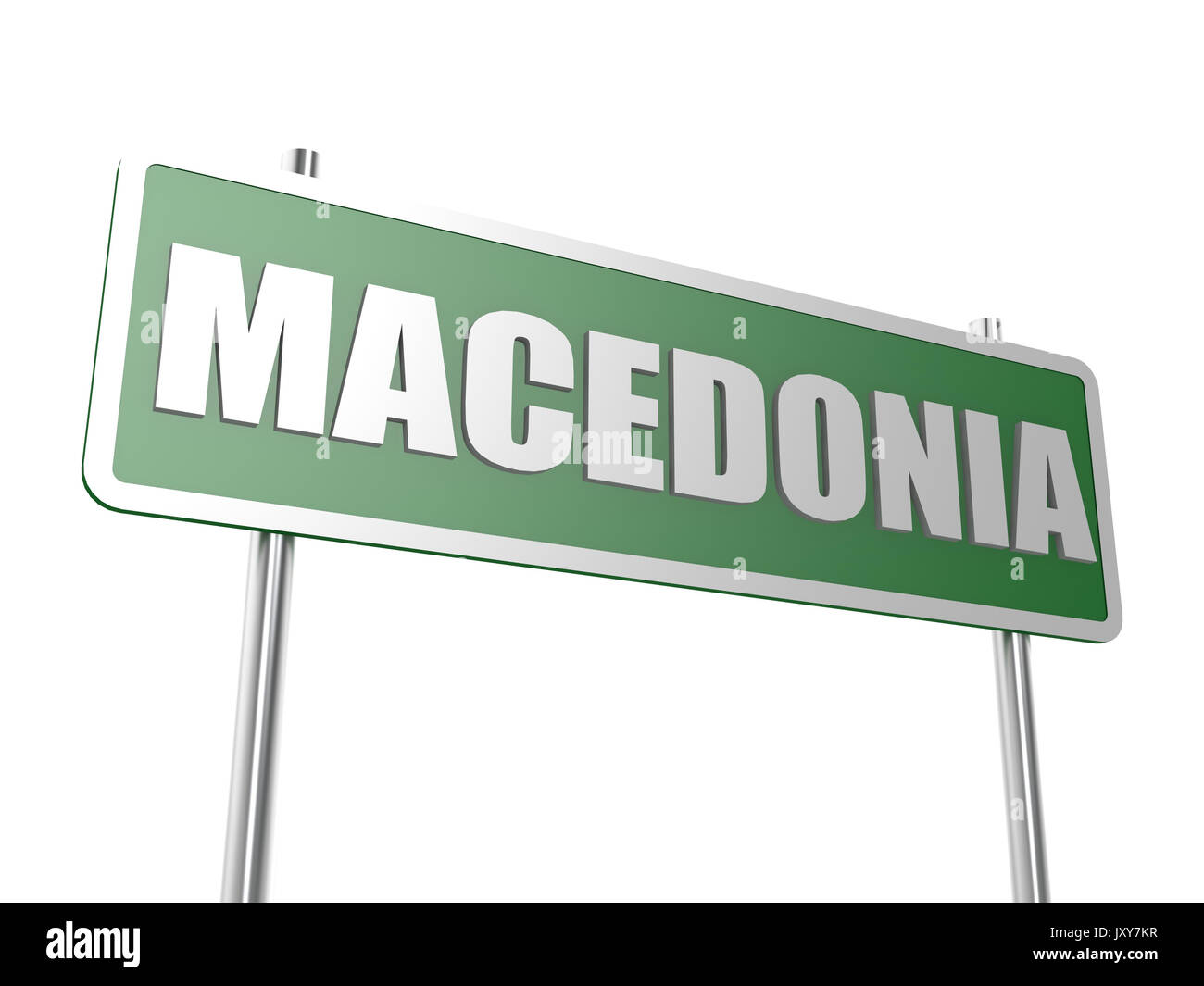 Macedonia concept image with hi-res rendered artwork that could be used for any graphic design. - Stock Image