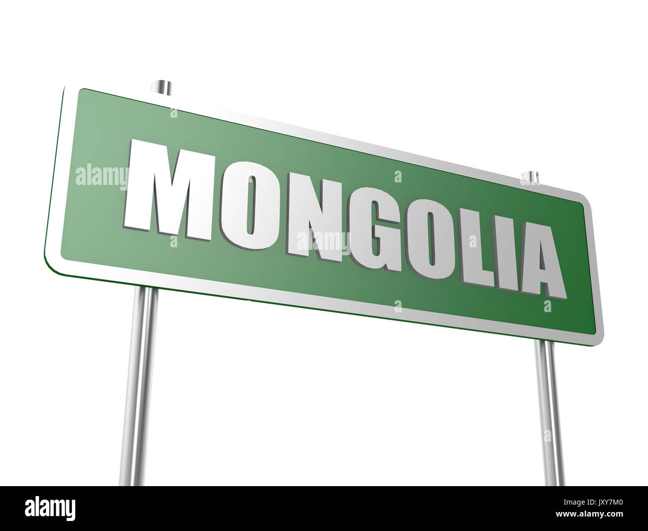 Mongolia concept image with hi-res rendered artwork that could be used for any graphic design. - Stock Image