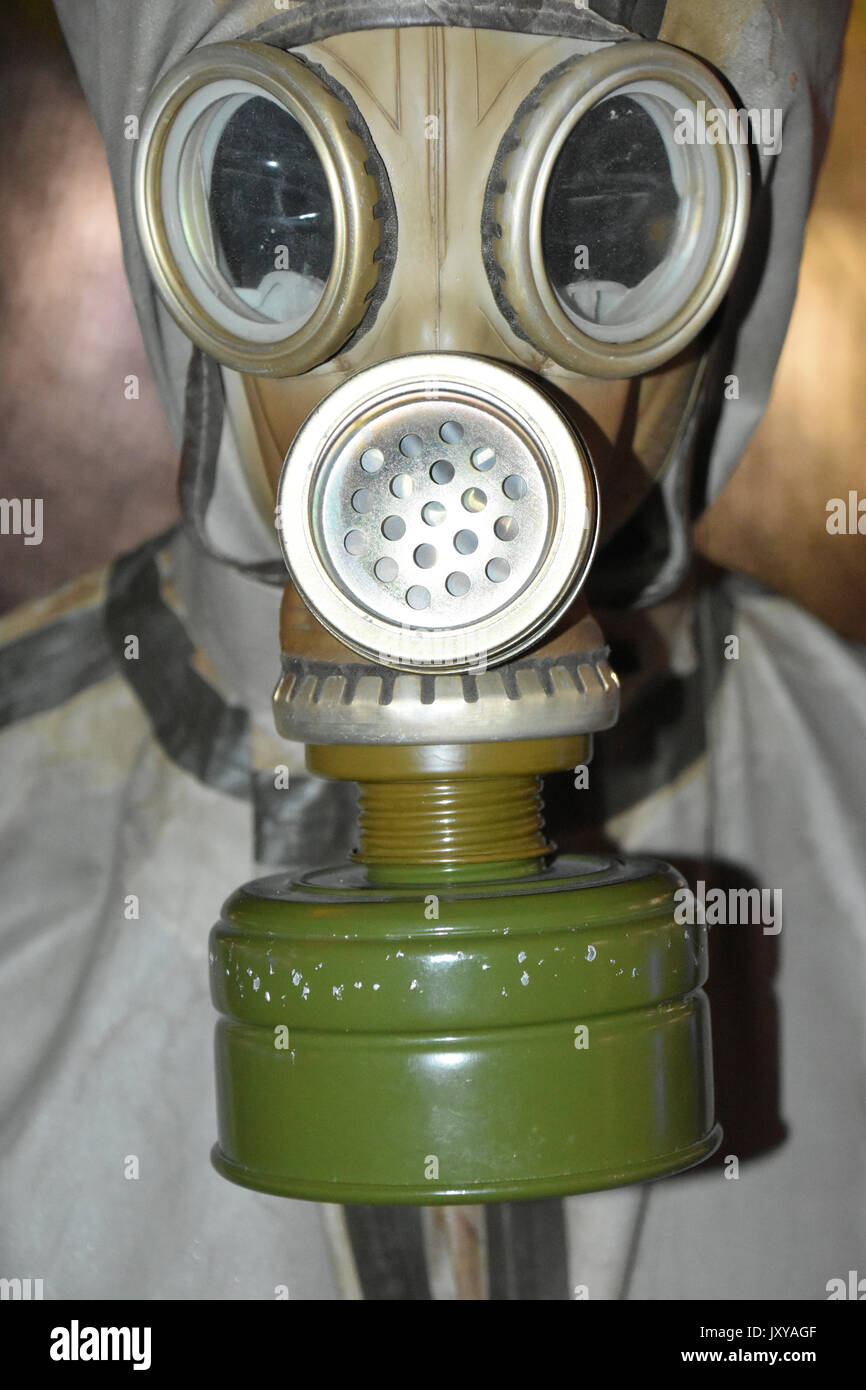 Gas mask and respirator Chernobyl Nuclear power plant - Stock Image