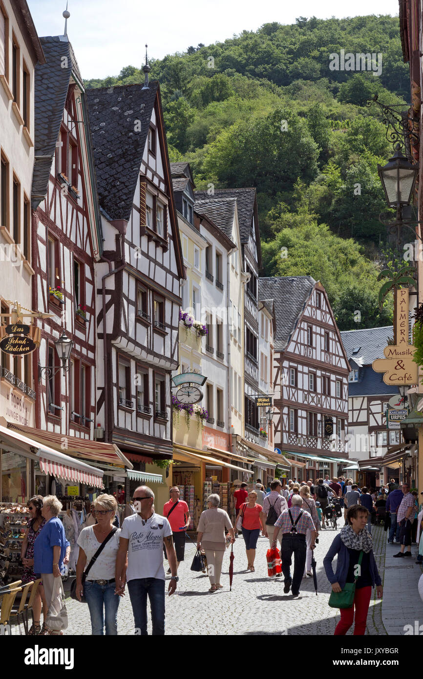 old town, Bernkastel-Kues, Moselle, Germany - Stock Image