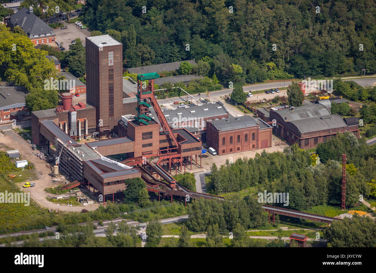 PACT Zollverein, art shaft Zollverein Thomas Rother, area World Heritage Zollverein Essen, Essen, area Ruhr, North Rhine-Westphalia, Germany, Essen, E - Stock Image