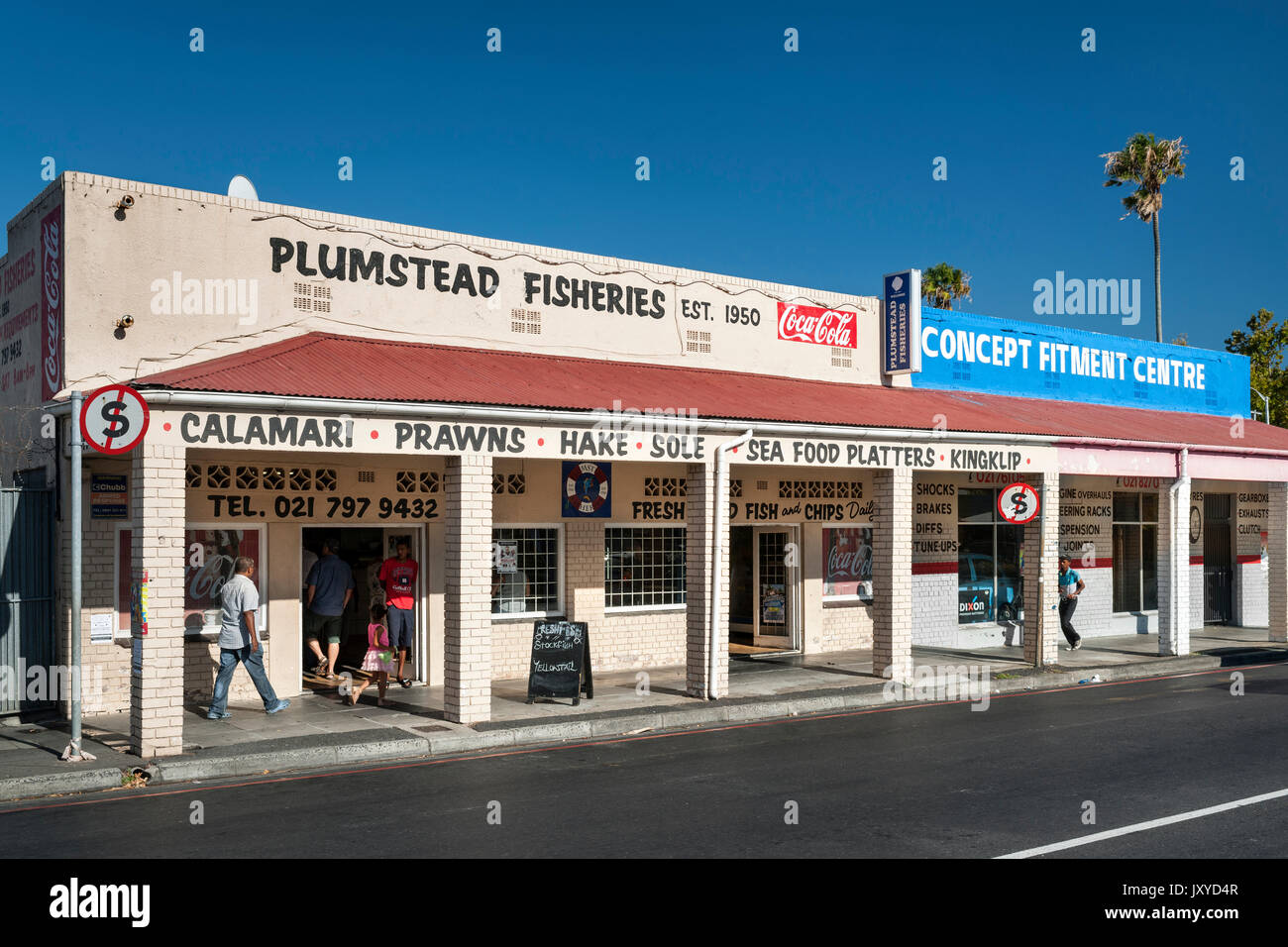 Plumstead Fisheries in Cape Town. - Stock Image