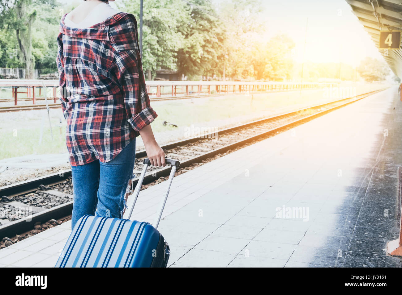 Backpack Travel Train Stock Photos Amp Backpack Travel Train