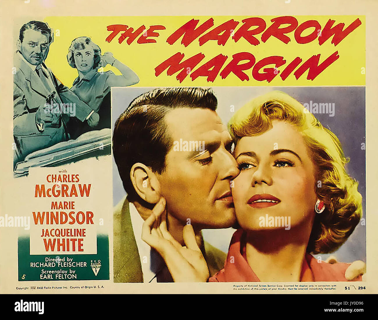 THE NARROW MARGIN 1952 RKO film with Jacqueline White and Charles McGraw directed by Robert Fleischer - Stock Image