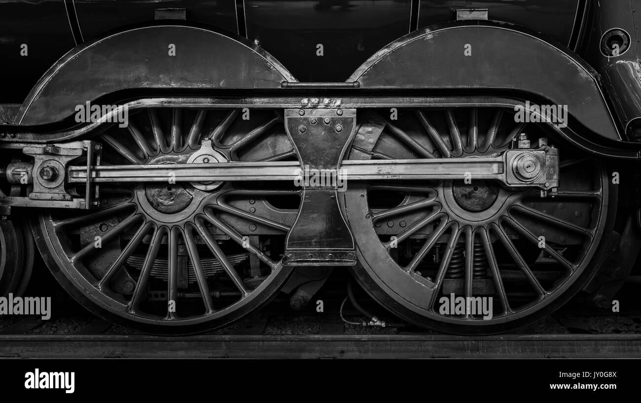 Steam Locomotive Wheels Stock Photo