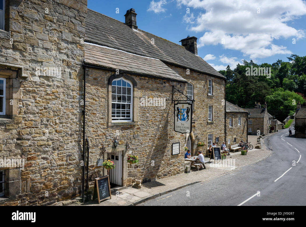 Lord Crewe Arms in Blanchland Village in Northumberland - Stock Image