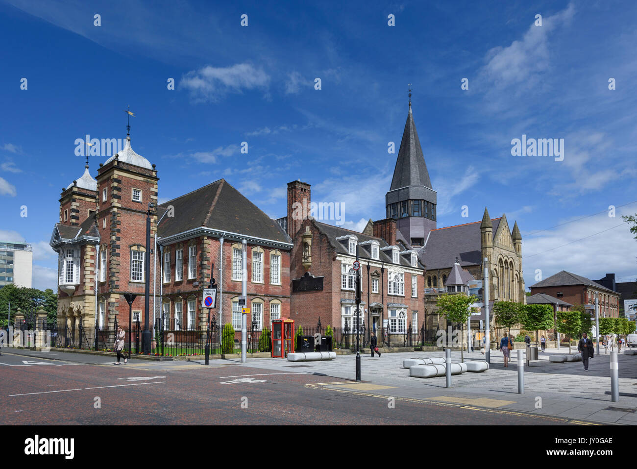 College House Grade II listed building, Newcastle upon Tyne, Once Dame Allan's School now Careers Centre for Northumbria University. - Stock Image