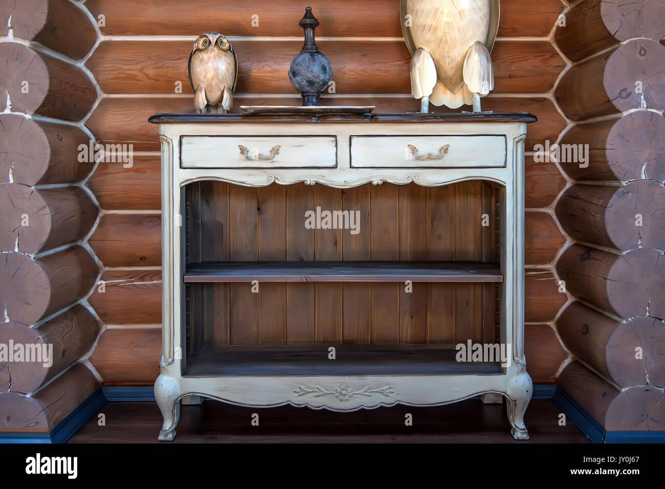 Vintage wooden dresser - Stock Image