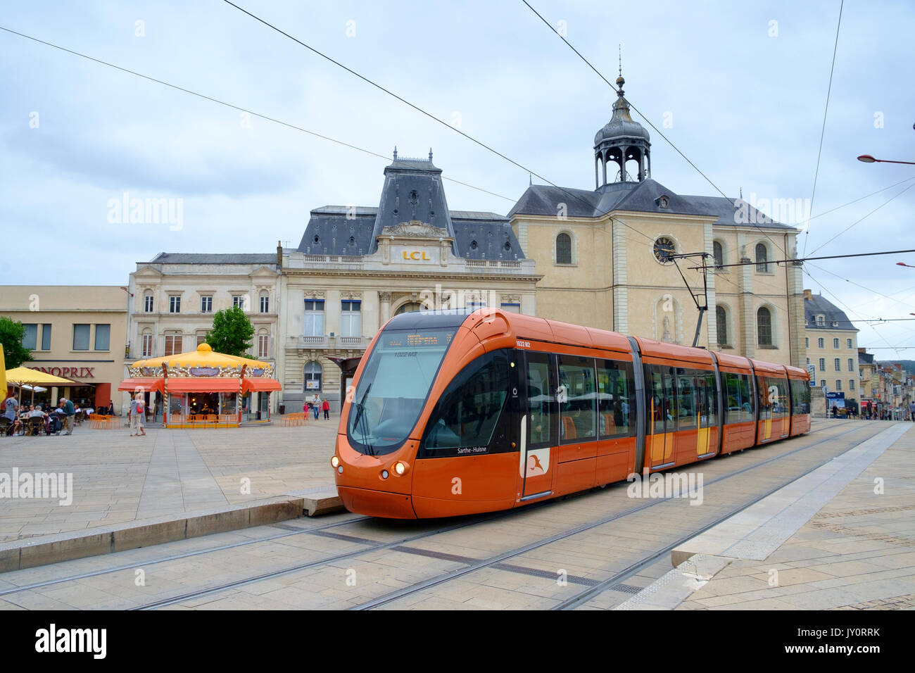 le mans, transport, france, tram, transportation, city, public, street, rail, modern, french, tramway, town, road, Stock Photo