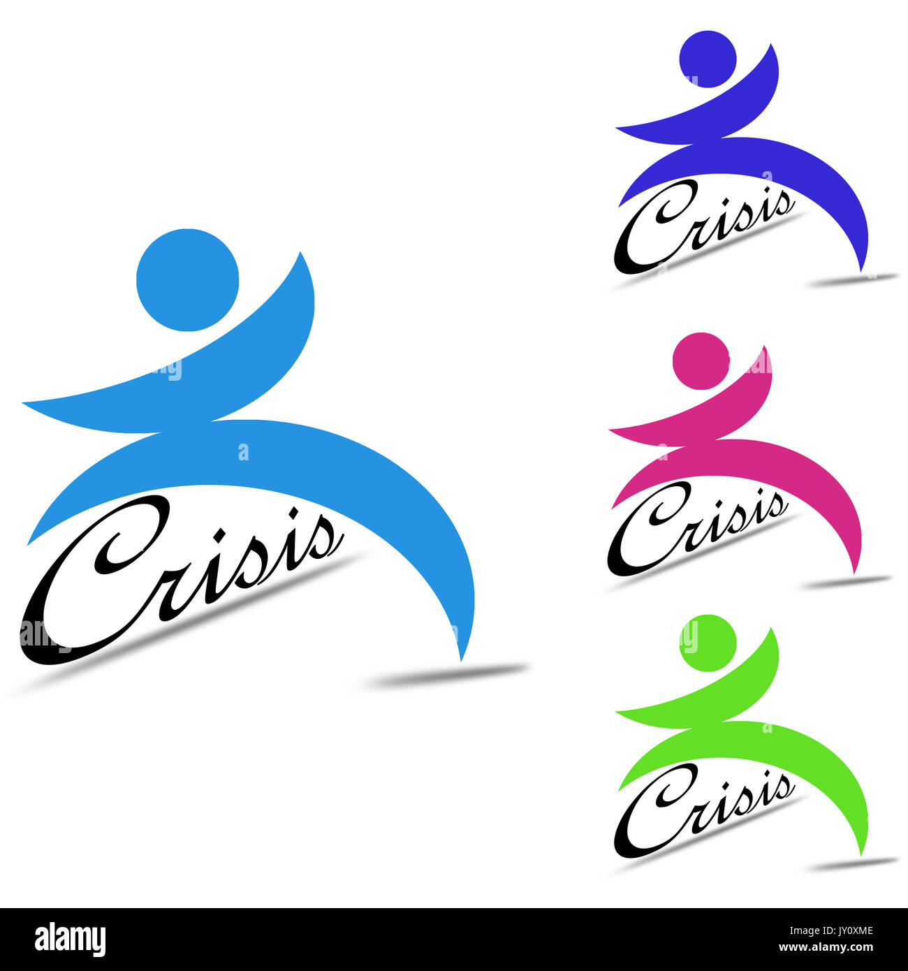 Overcome crisis image with hi-res rendered artwork that could be used for any graphic design. - Stock Image