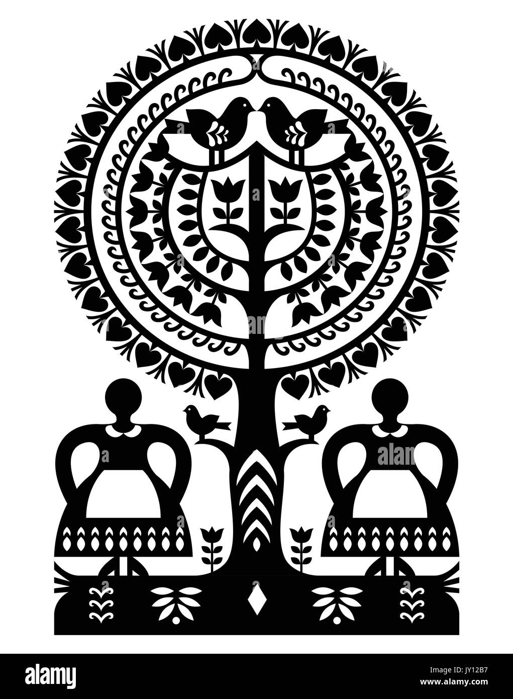 Folk Art Cut Out Stock Images Pictures Alamy