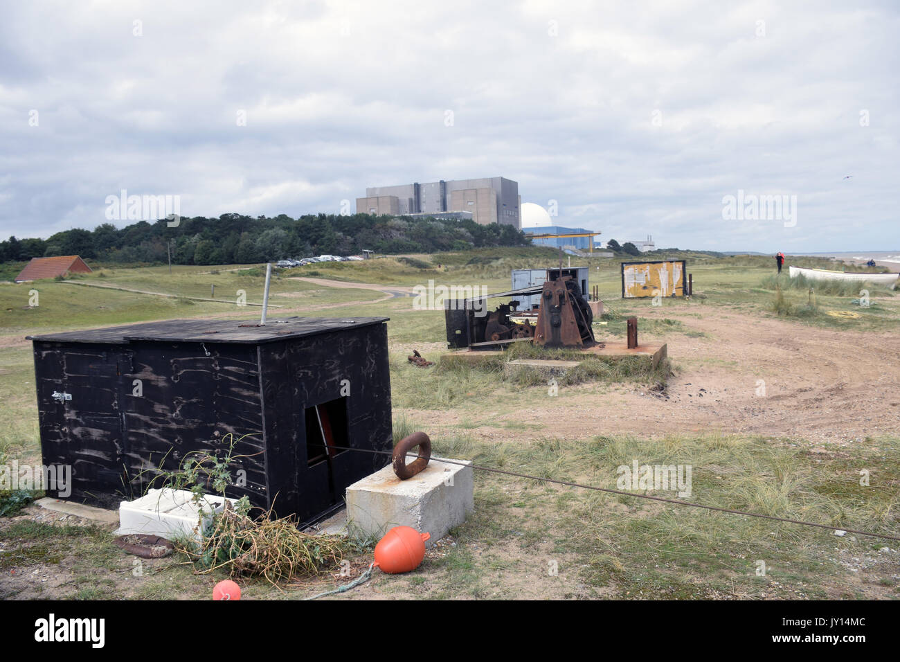 Sizewell A & B nuclear power stataion, Suffolk UK - Stock Image