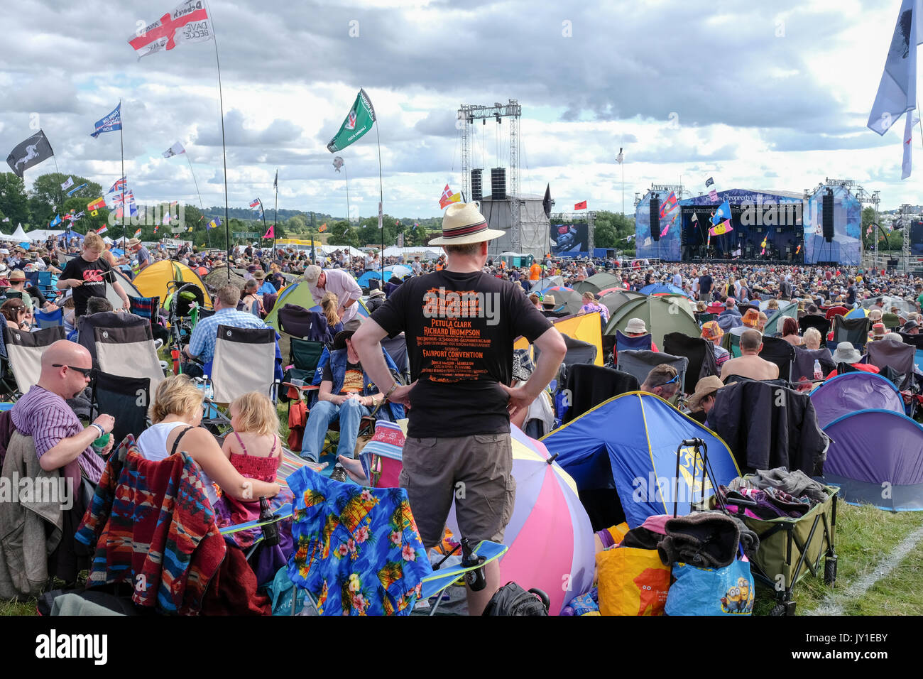 Fairport's Cropredy Convention, Banbury, Oxfordshire, England, August 12, 2017 - Stock Image