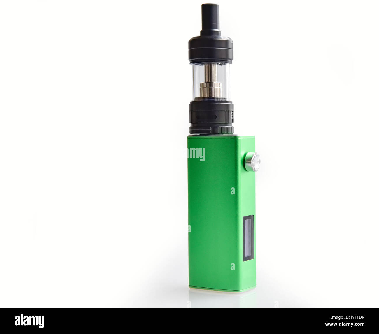 Simple green box mod on white background - Stock Image