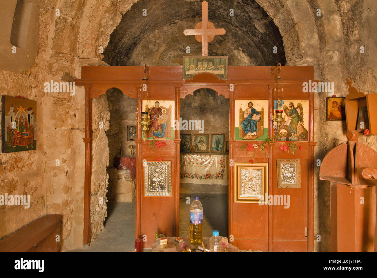 Greece, Aegean Islands, karpathos island, Lefkos Church of St George Stock Photo