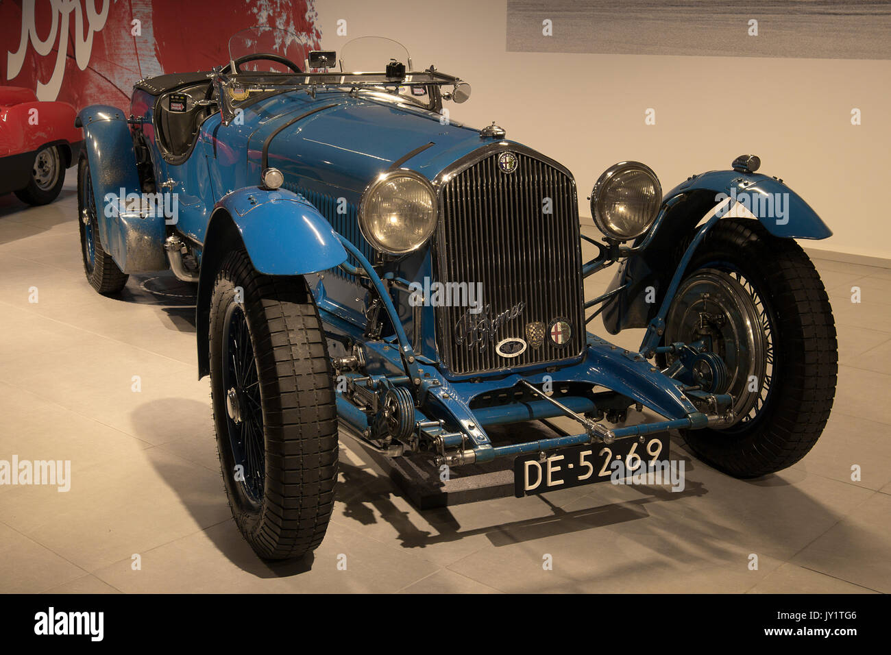1937 Alfa Romeo 8C2300 Le Mans Touring at the Louwman Museum, The Hague, Netherlands Stock Photo