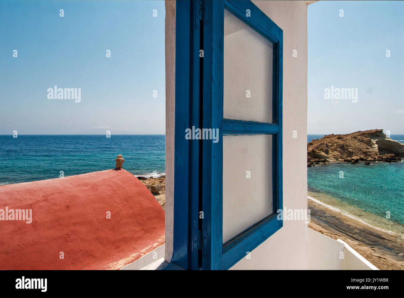 Greece, Aegean Islands, Karpathos island, Lefkos village and harbor Stock Photo