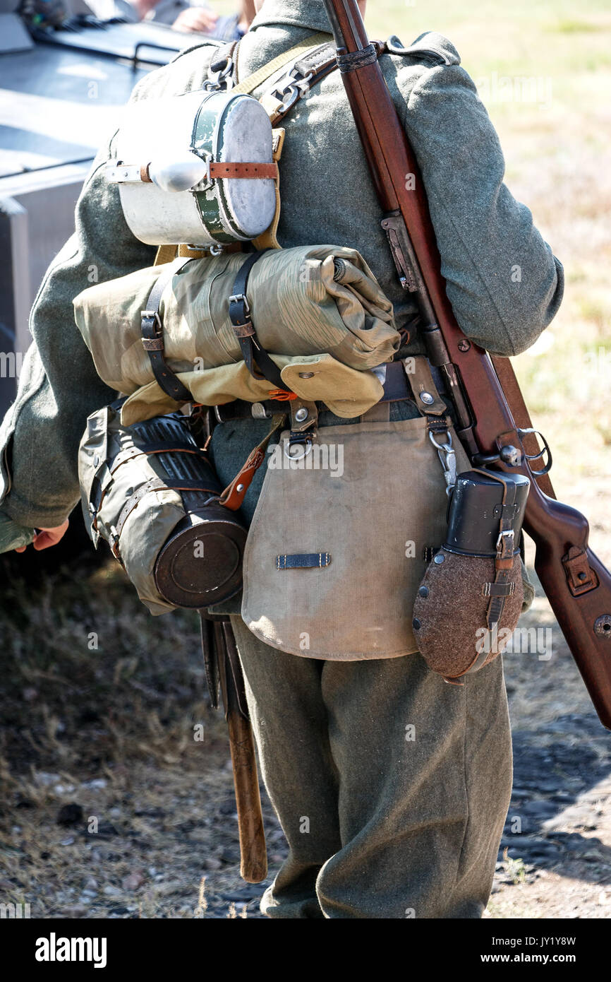 Outfit of a German soldier Stock Photo