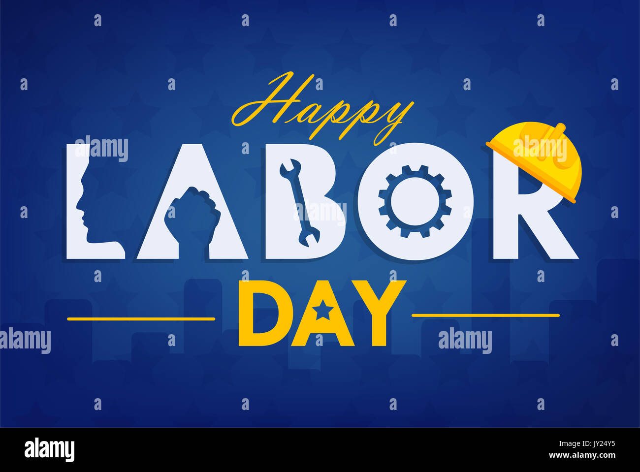 Labor Day Background Design Vector Template Graphic Or Banners Stock