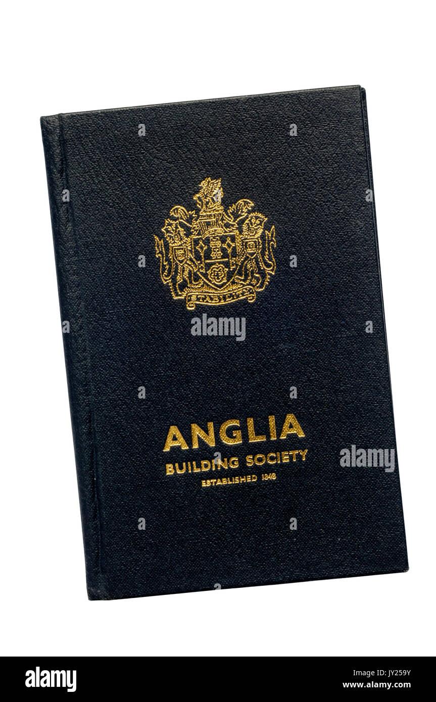 Building Society passbook. Anglia Building Society. Share Account. 1971-1982. - Stock Image