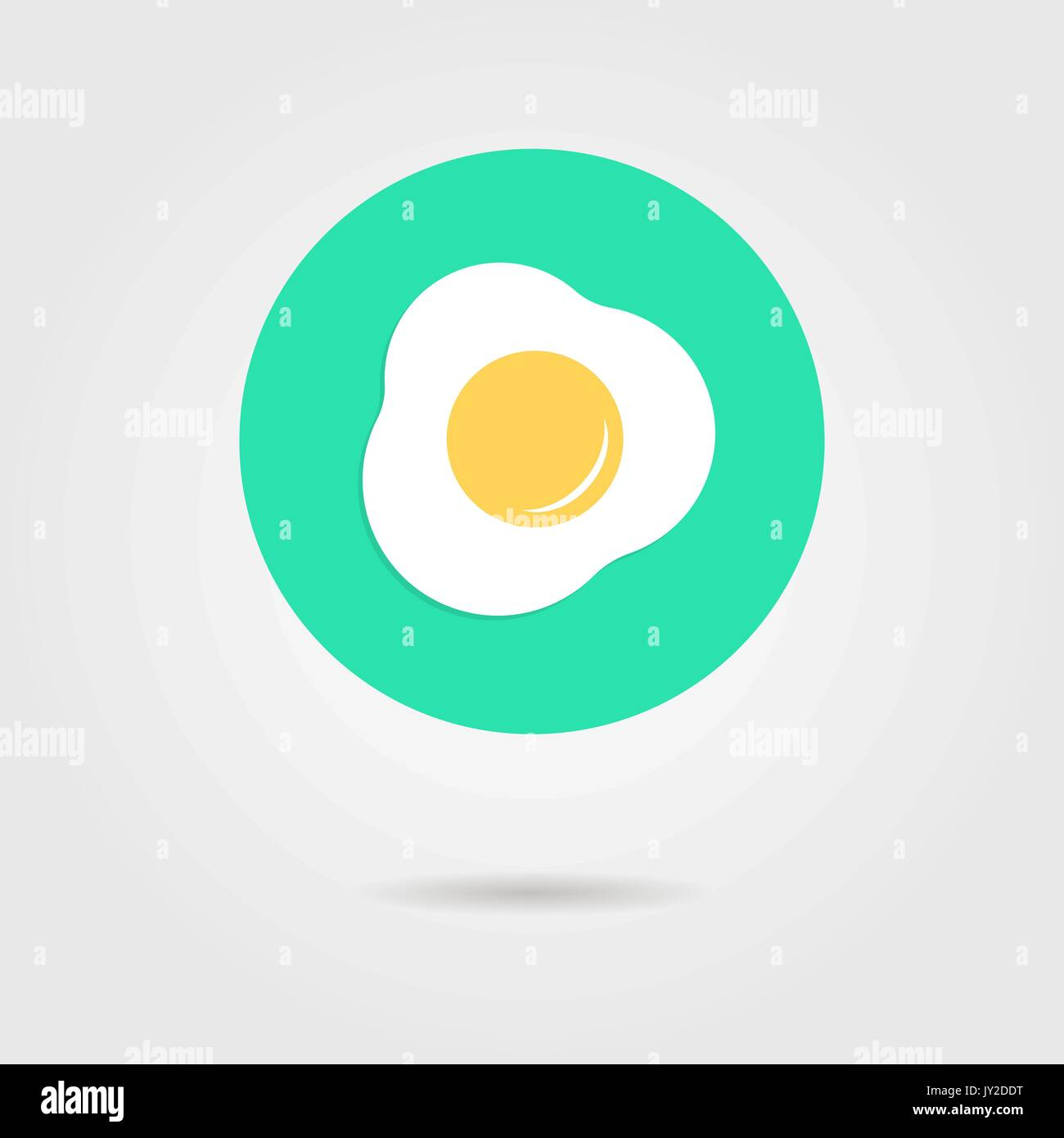 green scrambled eggs icon with shadow - Stock Vector