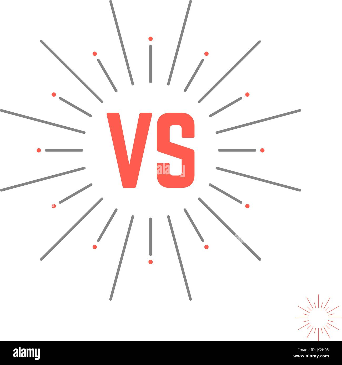 vintage versus emblem like struggle - Stock Vector