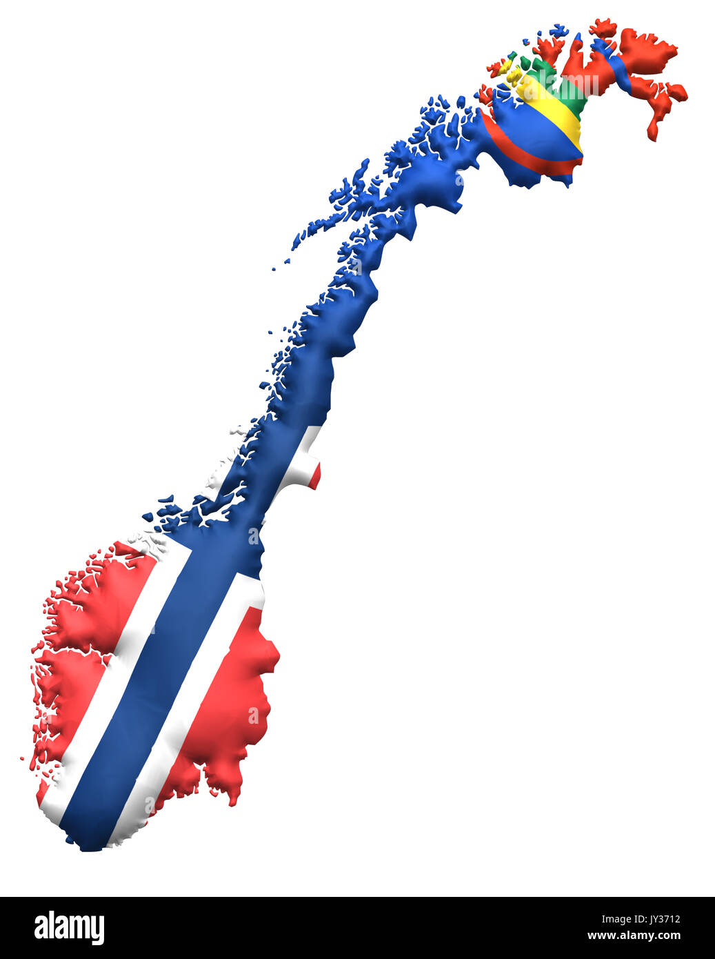 www kart norge Norway Norge flag flagg map kart Stock Photo: 154350030   Alamy www kart norge