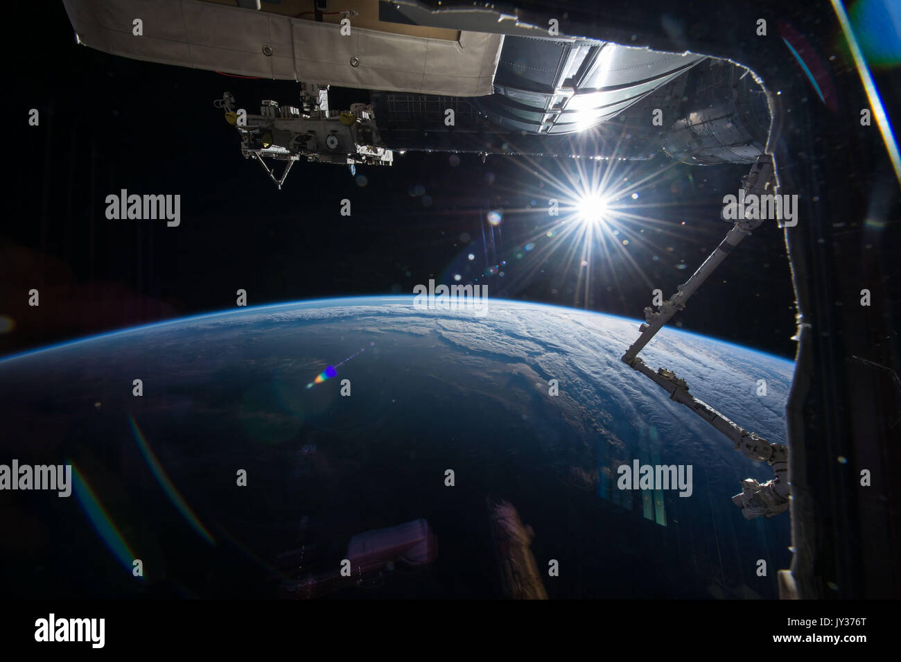 Exploration of planet Earth from outer space. Beauty in nature seen from the ISS. Elements of this image furnished by NASA - Stock Image