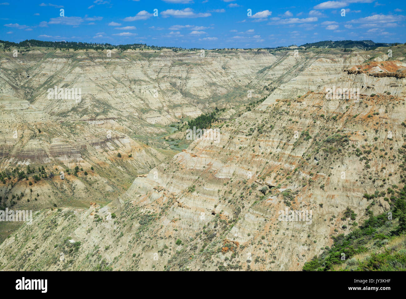 badlands in the upper missouri river breaks national monument near winifred, montana - Stock Image