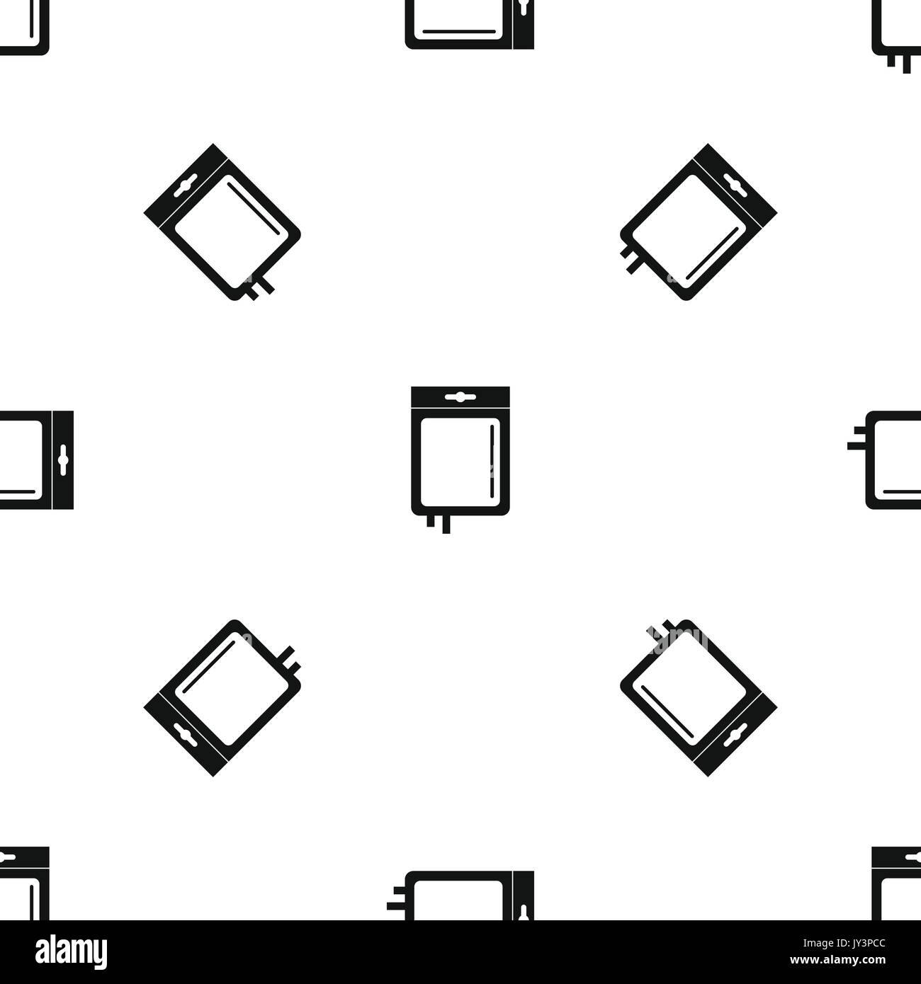 Blood transfusion pattern seamless black - Stock Image
