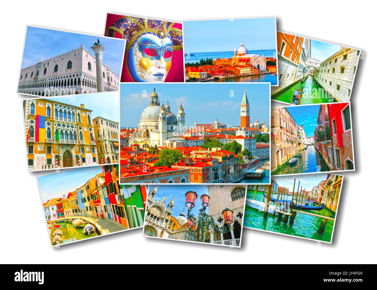 Collage of images from Venice - Stock Image